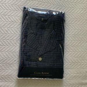 Club Room 100% Cotton Plaid Pajamas Set Mens